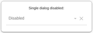Single dialog disabled