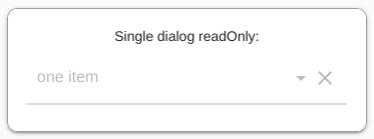 Single dialog readOnly